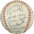 Autographs:Baseballs, 1957 Milwaukee Braves Team Signed Baseball....