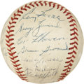 Autographs:Baseballs, 1955 Detroit Tigers Team Signed Baseball....