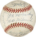 Autographs:Baseballs, 1944 New York Yankees Team Signed Baseball. ...