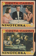 "Movie Posters:Comedy, Ninotchka (MGM, 1939). Lobby Cards (2) (11"" X 14""). Comedy.... (Total: 2 Items)"
