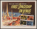 "Movie Posters:Science Fiction, First Spaceship on Venus (Crown International, 1962). Half Sheet(22"" X 28""). Science Fiction...."