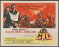 "Movie Posters:Adventure, El Cid (Allied Artists, 1961). Half Sheet (22"" X 28"") Style A.Adventure...."