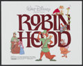 "Movie Posters:Animated, Robin Hood (Buena Vista, R-1982). Half Sheet (22"" X 28"").Animated...."