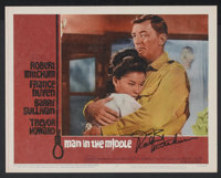 "Man in the Middle (20th Century Fox, 1964). Autographed Lobby Card (11"" X 14""). War"