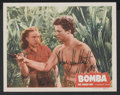 "Movie Posters:Adventure, Bomba, the Jungle Boy (Monogram, 1949). Autographed Lobby Card (11"" X 14""). Adventure...."