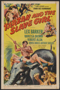 "Movie Posters:Adventure, Tarzan and the Slave Girl (RKO, 1950). One Sheet (27"" X 41"") StyleA. Adventure...."