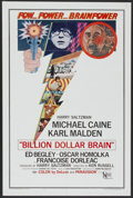 "Movie Posters:Thriller, Billion Dollar Brain (United Artists, 1967). One Sheet (27"" X 41""). Thriller...."