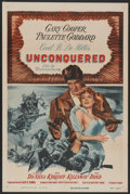 "Movie Posters:Adventure, Unconquered (Paramount, R-1955). One Sheet (27"" X 41"").Adventure...."
