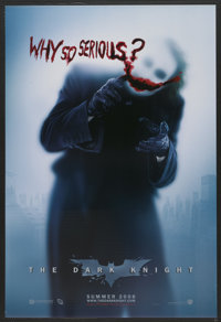 """The Dark Knight (Warner Brothers, 2008). One Sheet (27"""" X 40"""") DS Advance. Action"""