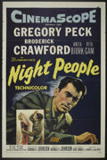 "Movie Posters:Adventure, Night People (20th Century Fox, 1954). One Sheet (27"" X 41"").Adventure...."