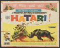 "Movie Posters:Adventure, Hatari! (Paramount, 1962). Half Sheet (22"" X 28""). Adventure...."
