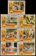 "Movie Posters:Adventure, Tarzan the Magnificent (Paramount, 1960). Lobby Cards (7) (11"" X14""). Adventure.... (Total: 7 Items)"