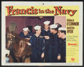 """Movie Posters:Comedy, Francis in the Navy (Universal, 1955). Lobby Card (11"""" X 14""""). Comedy...."""