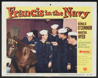 "Francis in the Navy (Universal, 1955). Lobby Card (11"" X 14""). Comedy"