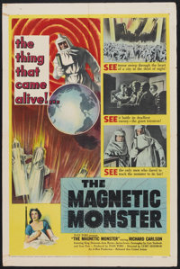 "The Magnetic Monster (United Artists, 1953). One Sheet (27"" X 41""). Science Fiction"