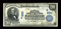 National Bank Notes:Maine, Waterville, ME - $20 1902 Plain Back Fr. 650 The Peoples NB Ch. #(N)880. ...