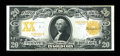 Large Size:Gold Certificates, Fr. 1185 $20 1906 Gold Certificate About New....