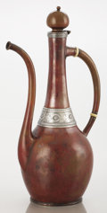 Silver Holloware, American:Coffee Pots, AN AMERICAN PATINATED COPPER AND SILVER COFFEE POT. GorhamManufacturing Co., Providence, Rhode Island, 1881. Marks:(anchor...