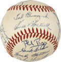 Autographs:Baseballs, 1952 Cincinnati Reds Team Signed Baseball....
