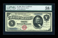 Large Size:Silver Certificates, Fr. 260 $5 1886 Silver Certificate PMG Choice About Unc 58 EPQ....