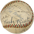 Autographs:Baseballs, Early 1940's Babe Ruth, Jimmie Foxx, Joe DiMaggio & More Signed Baseball....