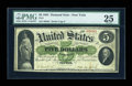 Large Size:Demand Notes, Fr. 1 $5 1861 Demand Note PMG Very Fine 25....
