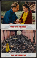 "Movie Posters:Academy Award Winner, Gone with the Wind (MGM, R-1968). Lobby Cards (2) (11"" X 14"") andPublicity Stills (4) (8"" X 10""). Academy Award Winner.... (Total: 6Items)"