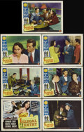 "Movie Posters:Action, Illegal Entry (Universal International, 1949). Title Lobby Card andLobby Cards (6) (11"" X 14""). Action.... (Total: 7 Items)"