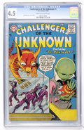 Silver Age (1956-1969):Science Fiction, Challengers of the Unknown #1 (DC, 1958) CGC VG+ 4.5 Cream tooff-white pages....