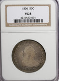 Early Half Dollars: , 1806 50C Pointed 6, Stem VG8 NGC. NGC Census: (23/914). PCGSPopulation (13/778). Mintage: 839,576. Numismedia Wsl. Price f...