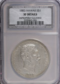 Coins of Hawaii: , 1883 $1 Hawaii Dollar--Improperly Cleaned--NCS. XF Details. NGCCensus: (34/201). PCGS Population (91/330). Mintage: 500,00...