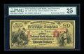 Large Size:Gold Certificates, San Francisco, CA - $20 1870 Fr. 1152 The First National Gold Bank Ch. # 1741. ...