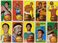 Basketball Cards:Lots, 1970-71 Topps Basketball Partial Set (128/175).... (Total: 128cards)