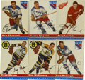 Hockey Cards:Sets, 1954-55 Topps Hockey Near Complete Set (55/60)....