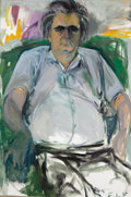 Fine Art - Painting, American:Contemporary   (1950 to present)  , ELAINE DE KOONING (American, 1919-1989). Portrait of AristodimosKaldis. Oil on canvas. 59-1/2 x 39 inches (151.1 x 99.1...