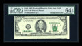 Error Notes:Shifted Third Printing, Fr. 2174-B $100 1993 Federal Reserve Note. PMG Choice Uncirculated 64 EPQ.. ...