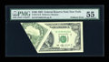 Error Notes:Foldovers, Fr. 2174-B $100 1993 Federal Reserve Note. PMG About Uncirculated55.. ...