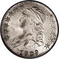 Bust Half Dollars: , 1809 50C MS62 PCGS. O-115a, R.3. Most easily attributed by themultiple die cracks on the obverse, lack of milling on the r...