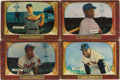 Baseball Cards:Lots, 1955 Bowman Baseball Group Lot of 4. Four key cards from thepopular 1955 Bowman baseball issue are offered. Includes #179 ...