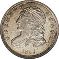 Bust Dimes: , 1837 10C MS66 NGC. JR-4, R.1. Although nearly twice as many 1837Liberty Seated dimes were produced as Capped Bust pieces, ...
