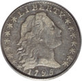 Early Half Dimes: , 1795 H10C VF20 PCGS. V-5, LM-8, R.3. Attributed by a die crack from1 o'clock on the obverse rim to the bridge of the nose,...