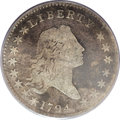 Early Half Dollars: , 1794 50C Good 4 PCGS. O-105, R.5. The 1794 half dollar is ahistoric issue, representative (along with the 1794 silver doll...