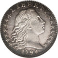 Early Half Dimes: , 1794 H10C AU58 NGC. V-3, LM-3, R.4. All of the 1794 half dimes wereactually struck in 1795. Mint records prove this, as th...
