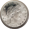 Barber Quarters: , 1900-S 25C MS67 NGC. A brilliant, lustrous, and well struck coinwith virtually pristine fields. The obverse has at least a...
