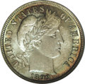 Barber Dimes: , 1899 10C MS66 PCGS. This is a gorgeous example with high lustrous mint frost on each side, accented by peripheral sea-green...