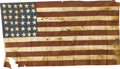 """Military & Patriotic:Civil War, 36-Star Hand-Sewn Cotton Flag. This 70"""" x 36"""" 36-star flag was created some time after the admission of Nevada to the Union ..."""