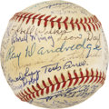 Autographs:Baseballs, Former Newark Eagle Stars Multi-Signed Baseball....