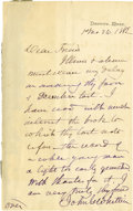 Autographs:Authors, John Greenleaf Whittier Autograph Letter Signed...
