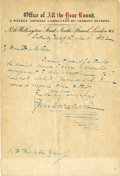 Autographs:Authors, Charles Dickens Autograph Letter Signed.... (Total: 2 Items)