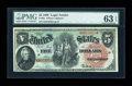 Large Size:Legal Tender Notes, Fr. 64 $5 1869 Legal Tender PMG Choice Uncirculated 63 EPQ....